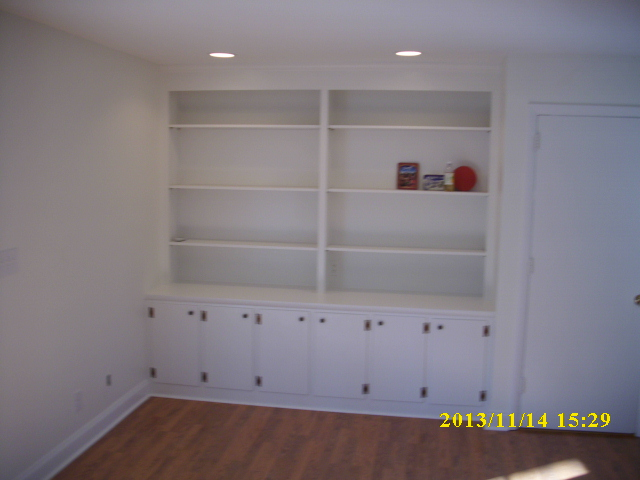 Nice new bookcase area