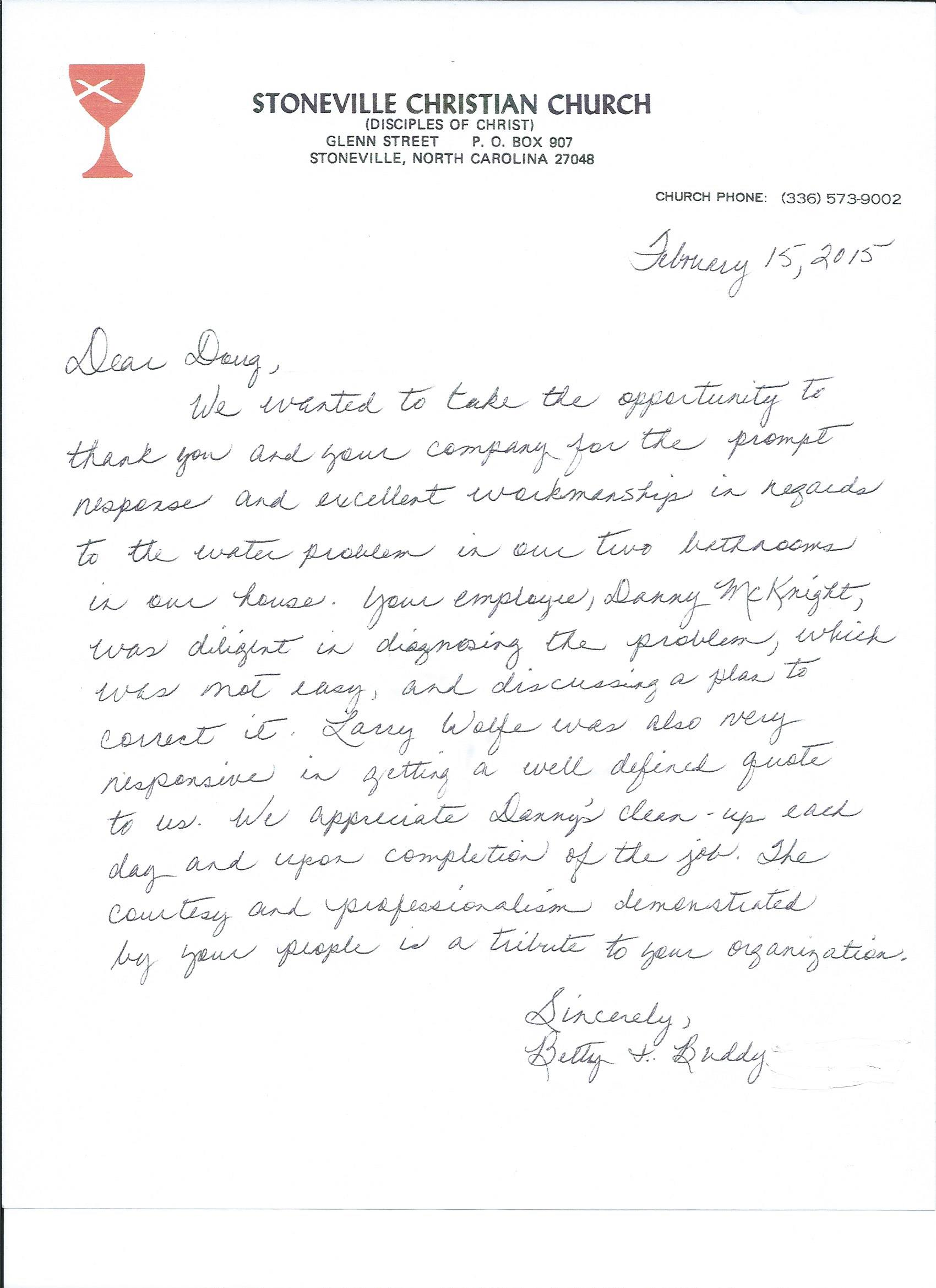 Betty Letter